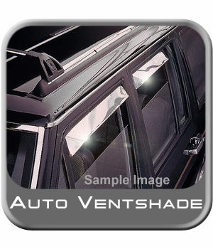 Ford F250 Truck Rain Guards / Wind Deflectors 1987-1998 Ventshade Stainless Steel 4-piece Set Auto Ventshade AVS #14075