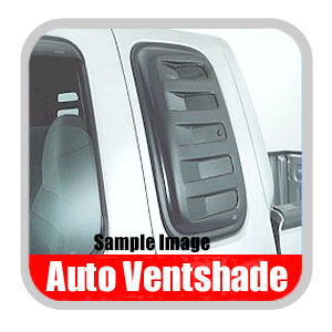 GMC Sierra Truck Side Window Covers 1988-2003 Aeroshade Smoked Acrylic, Paintable Louvered Style 2-piece Set Auto Ventshade AVS #83423