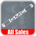1994-1998 GMC Truck Third Brake Light Cover Brushed Aluminum Finish w/ GMC Cutout Sold Individually All Sales #94005
