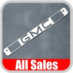 1994-1998 GMC Truck Third Brake Light Cover Polished Aluminum Finish w/ GMC Cutout Sold Individually All Sales #94005P