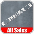 1994-1998 GMC Truck Third Brake Light Cover Polished Aluminum Finish w/ USA Cutout Sold Individually All Sales #94400P