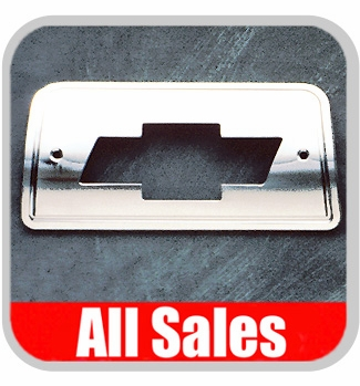 1994-2003 Chevy S10 Truck Third Brake Light Cover Polished Aluminum Finish w/ Bow Tie Cutout Sold Individually All Sales #94006P