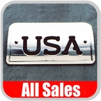 1994-2003 Chevy S10 Truck Third Brake Light Cover Polished Aluminum Finish w/ USA Cutout Sold Individually All Sales #94406P