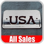 1994-2003 GMC S15 Sonoma Third Brake Light Cover Brushed Aluminum Finish w/ USA Cutout Sold Individually All Sales #94406X