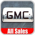 1994-2003 GMC S15 Sonoma Third Brake Light Cover Polished Aluminum Finish w/ GMC Cutout Sold Individually All Sales #94007XP