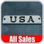 1994-2006 Jeep Wrangler Third Brake Light Cover Brushed Aluminum Finish w/ USA Cutout Sold Individually All Sales #31400