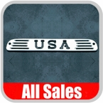 1994-2008 Ford Ranger Third Brake Light Cover Polished Aluminum Finish w/ USA Cutout Sold Individually All Sales #54406P