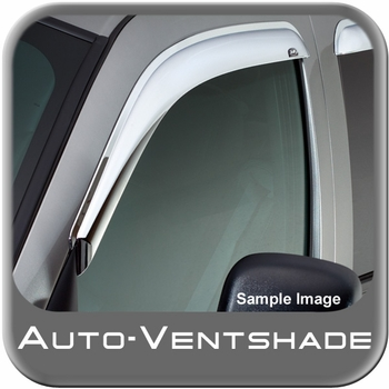 Chevy S10 Blazer Rain Guards / Wind Deflectors 1995-2005 Ventvisor Chrome Plated ABS Plastic Front Pair Auto Ventshade AVS #682127