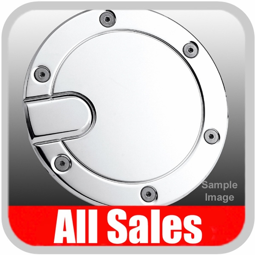1996-2003 Ford F150 Truck Fuel Door Non-Locking Style Billet Aluminum, Chrome Finish Sold Individually All Sales #6050C