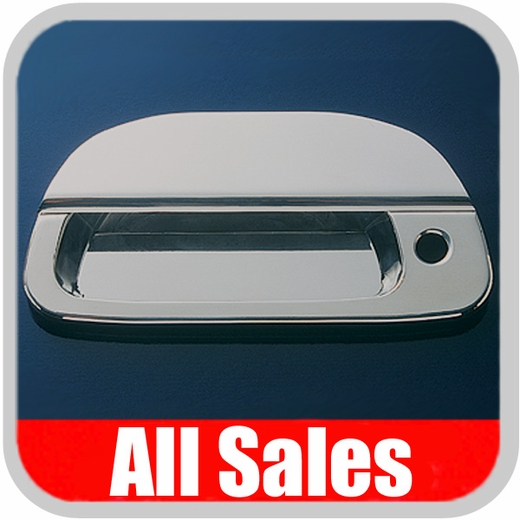 1996-2003 Ford F150 Truck Tailgate Handle Lever & Bucket Handle & Bucket Assembly Polished Aluminum Finish Smooth Design w/Keyhole 2-Pieces All Sales #503L