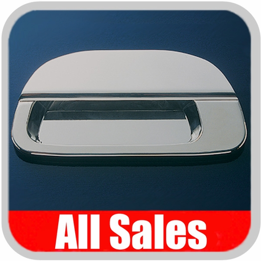 1996-2003 Ford F150 Truck Tailgate Handle Lever & Bucket Handle & Bucket Assembly Polished Aluminum Finish Smooth Design w/o Keyhole 2-Pieces All Sales #503