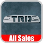 1996-2004 Toyota Tacoma Third Brake Light Cover Brushed Aluminum Finish w/ TRD Cutout Sold Individually All Sales #74003