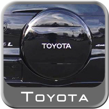 "1996-2013 Toyota RAV4 Spare Tire Cover Hard Cover Style Black Color Code 202 Fits 16"" Spare Genuine Toyota #64771-42060-C0"