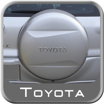 """1996-2013 Toyota RAV4 Spare Tire Cover Hard Cover Style Titanium Metallic Color Code 1D4 Fits 16"""" Spare Genuine Toyota #64771-42060-B0"""