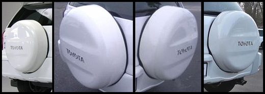 "Toyota RAV4 Spare Tire Cover 1996-2013 Hard Cover Style White Pearl Color Code 064 Fits 16"" Spare Genuine Toyota #64771-42100-A1"