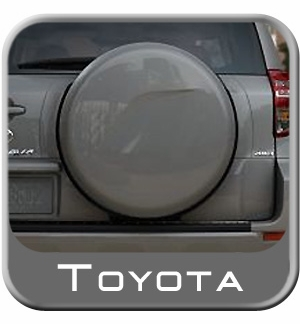 1996 2013 toyota rav4 spare tire cover hard face w black. Black Bedroom Furniture Sets. Home Design Ideas