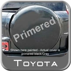 "Toyota RAV4 Spare Tire Cover 1996-2013 Hard Face w/Black Vinyl Sides Primered, Paintable Fits 17-18"" Tires Genuine Toyota #PT218-42120-AA"