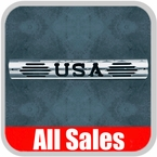 1997-2003 Ford Excursion Third Brake Light Cover Polished Aluminum Finish w/ USA Cutout Sold Individually All Sales #54404P