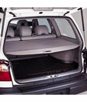 1998-2000 Subaru Forester Cargo Cover Gray, Auto-Retractable Style Sold Individually Genuine Subaru #65560FC001ND