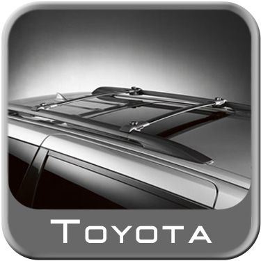 1998-2003 Toyota Sienna Roof Rack Flat, Wedge-Style Crossbars Genuine Toyota #PT424-08982