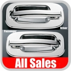 1999-2006 Chevy Tahoe Door Handle Levers & Buckets Driver & Passenger Sides w/No Lock Holes Polished Aluminum 4-Pieces All Sales #902