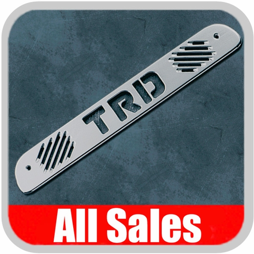 1999-2006 Toyota Tundra Third Brake Light Cover Brushed Aluminum Finish w/ TRD Cutout Sold Individually All Sales #74009