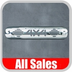 1999-2007 Chevy Truck Third Brake Light Cover Polished Aluminum Finish w/ 4 X 4 Cutout Sold Individually All Sales #94014P