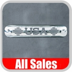 1999-2007 Chevy Truck Third Brake Light Cover Polished Aluminum Finish w/ USA Cutout Sold Individually All Sales #94409P
