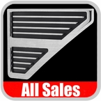 1999-2007 Ford F250 Truck Side Vents Grille Style Brushed Alumuinum & Black Set of 2 All Sales #5103
