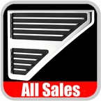 1999-2007 Ford F250 Truck Side Vents Grille Style Polished Alumuinum & Black Set of 2 All Sales #5103P