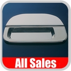 1999-2007 Ford F350 Truck SuperDuty Tailgate Handle Lever & Bucket Handle & Bucket Assembly Polished Aluminum Finish Smooth Design w/o Keyhole 2-Pieces All Sales #503