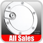 1999-2010 Ford F250 Truck SuperDuty Fuel Door Locking Style Billet Aluminum, Chrome Finish Sold Individually All Sales #6050CL