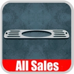 1999-2012 Ford F350 Truck Third Brake Light Cover Brushed Aluminum Finish Oval Cutout Design Sold Individually All Sales #54006