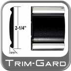 "2-1/4"" Wide Black-Chrome Body Side Molding Sold by the Foot, Trim Gard® # 9002-01"