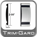 """2-1/4"""" Wide Chrome Body Side Molding Sold by the Foot, Trim Gard® # 9001-01"""