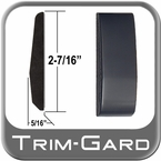 "2-7/16"" Wide Black (Gloss) Body Side Molding Sold by the Foot, Trim Gard® # FD02-02-01"