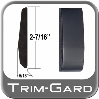 """2-7/16"""" Wide Black (Gloss) Body Side Molding Sold by the Foot, Trim Gard® # FD02-02-01"""