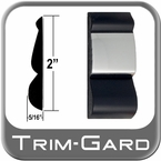 "2"" Wide Black-Chrome Body Side Molding Sold by the Foot, Trim Gard® # FD92-01"