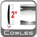 """2"""" Wide Chrome Body Side Molding Sold by the Foot, Cowles® # 38-901-01"""