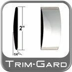 "2"" Wide Chrome Body Side Molding Sold by the Foot Trim Gard® #99GT-01-01"