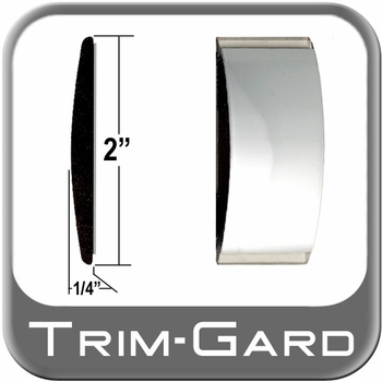 """2"""" Wide Body Side Molding Chrome Sold by the Foot Trim Gard® #99GT-01-01"""