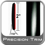 "2"" Wide Black Molding Trim Sold by the Foot Precision Trim® #1472-60-01"