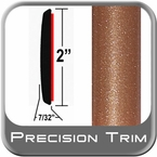 "2"" Wide Copper Molding Trim (PT80) Sold by the Foot Precision Trim® #1490-80-01"