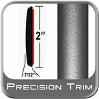 "2"" Wide Gray (Dark) Molding Trim (PT24) Sold by the Foot Precision Trim® #1490-24-01"