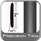 "2"" Wide Gray (Dark) Molding Trim (PT49) Sold by the Foot Precision Trim® #1490-49-01"