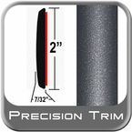 "2"" Wide Gray (Dark) Molding Trim (PT84) Sold by the Foot Precision Trim® #1490-84-01"