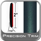 "2"" Wide Green (Dark) Molding Trim (PT92) Sold by the Foot Precision Trim® #1490-92-01"