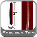 "2"" Wide Red (Dark) Molding Trim (PT31) Sold by the Foot Precision Trim® #1490-31-01"
