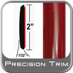 "2"" Wide Red (Dark) Molding Trim (PT42) Sold by the Foot Precision Trim® #1490-42-01"