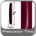 "2"" Wide Red (Dark) Molding Trim (PT44) Sold by the Foot Precision Trim® #1490-44-01"